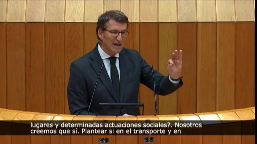 Feijóo pide al Gobierno el uso obligatorio de las mascarillas FFP2 en determinados contextos