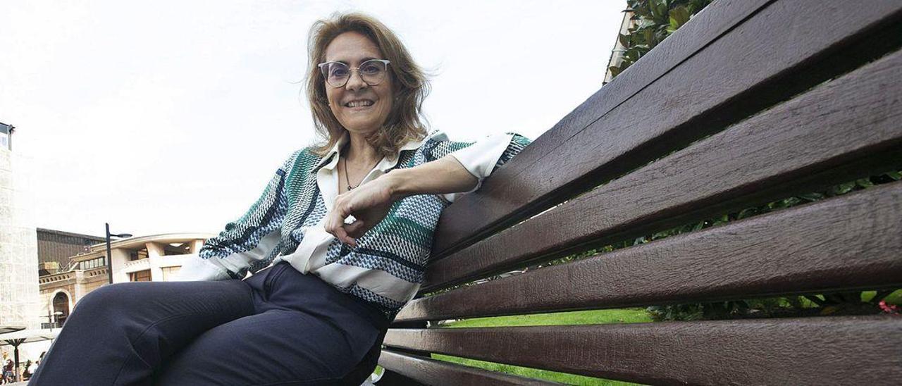 La musicóloga María Encina Cortizo, en Oviedo.