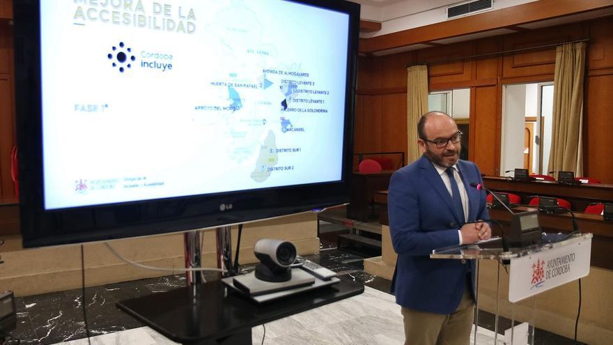 El Ayuntamiento de Córdoba ejecutará cerca de 150 actuaciones en materia de accesibilidad hasta finales de año