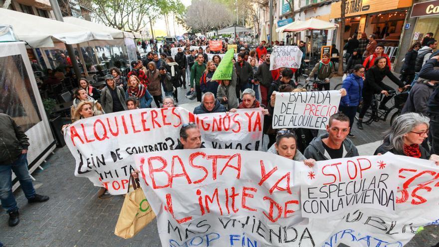 Demo gegen die Wohnungsnot in Palma de Mallorca