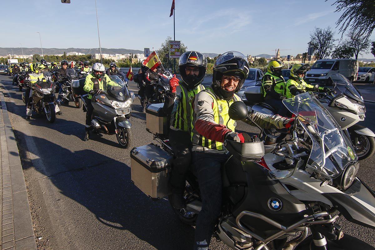 Una ruta motera solidaria por Córdoba pone fin a los actos de la Guardia Civil