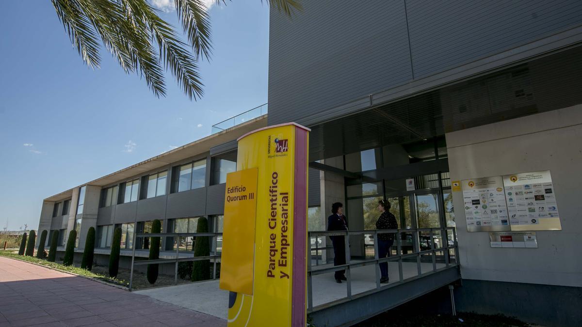 Entrada al parc científic de la Universitat Miguel Hernández.