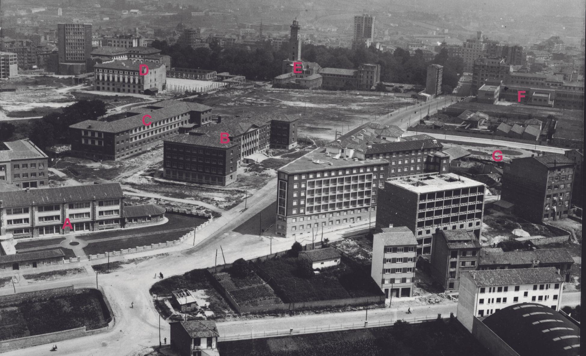 Las imágenes históricas de Oviedo desde el aire