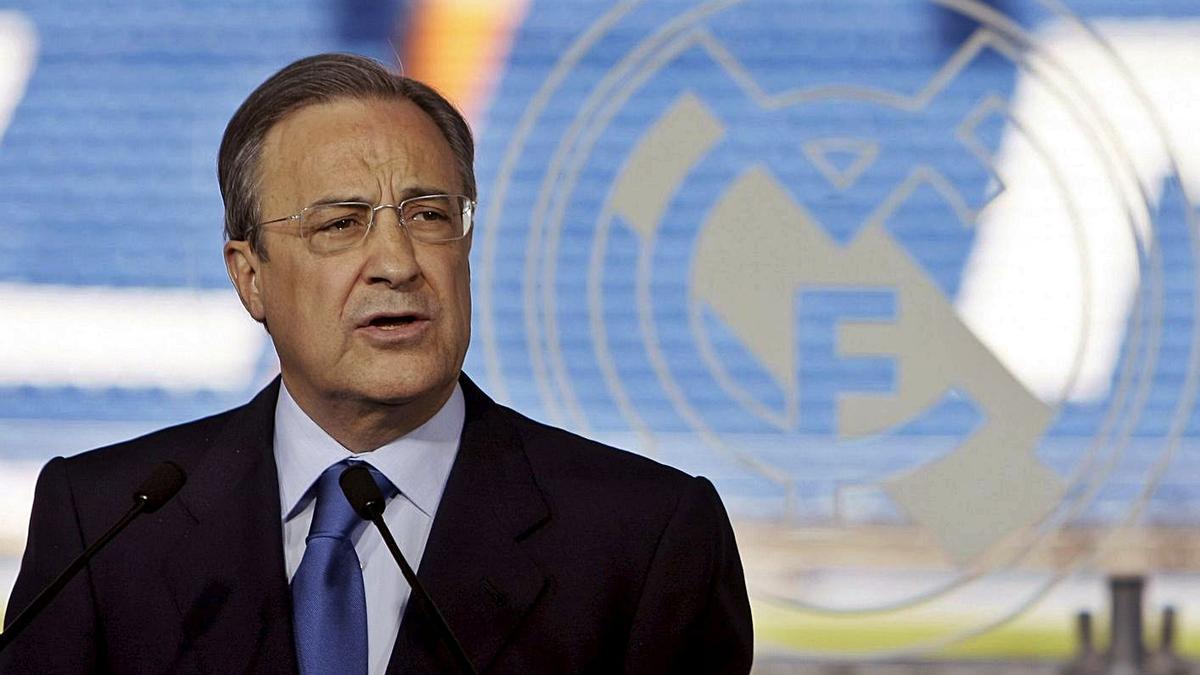 El presidente del Real Madrid, Florentino Pérez, en un acto del club.   EFE