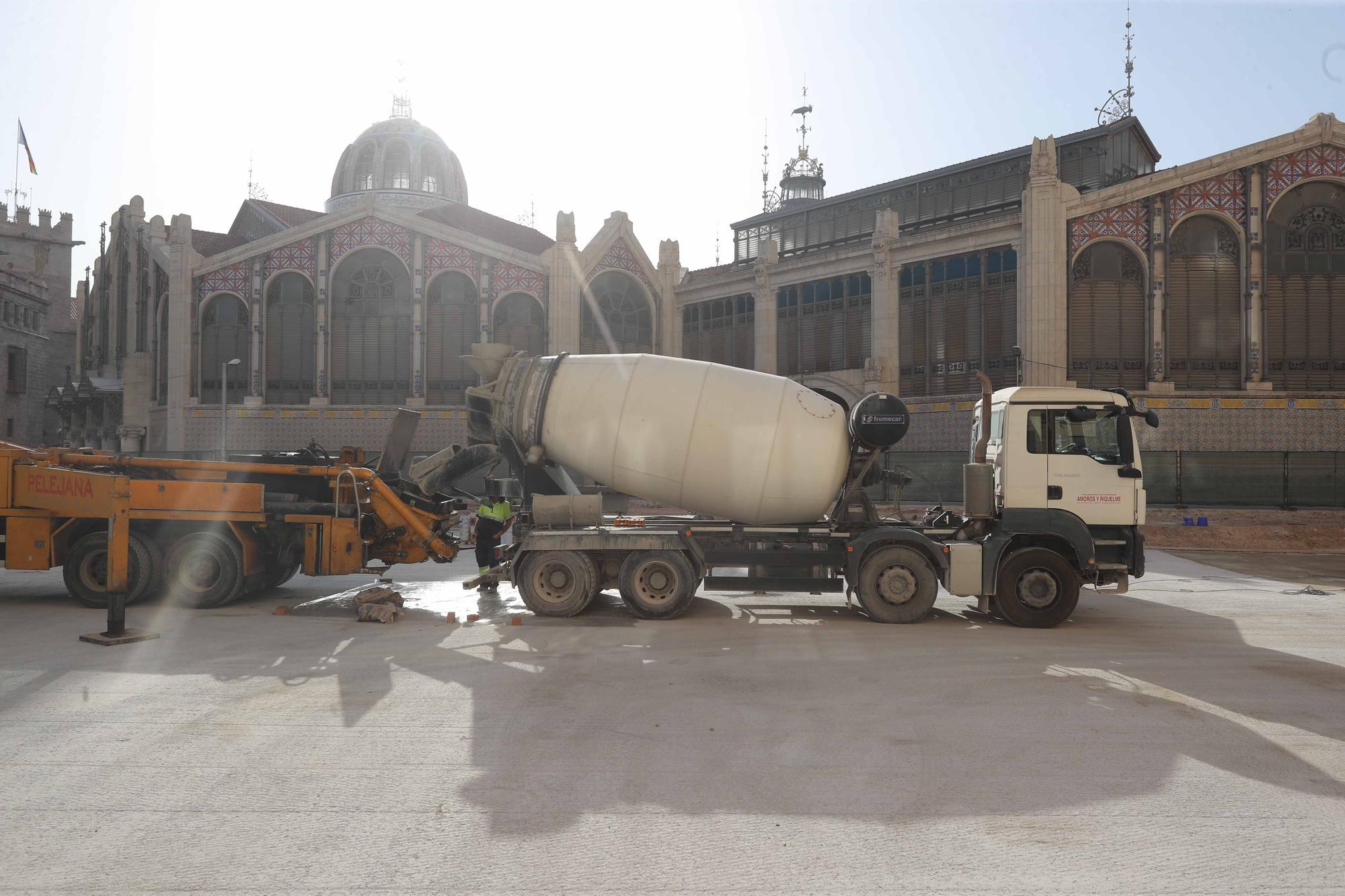 Avanzan las obras en el entorno del Mercado Central