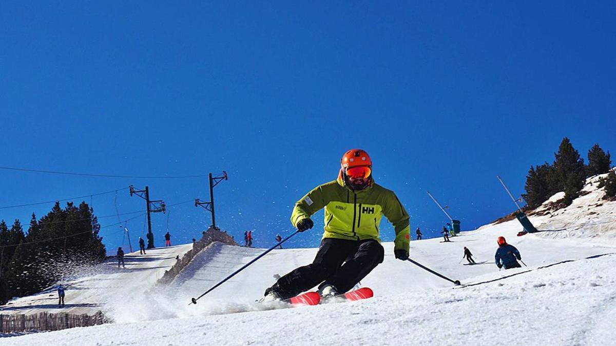 Esquiadors a Masella, el cap de setmana passat.
