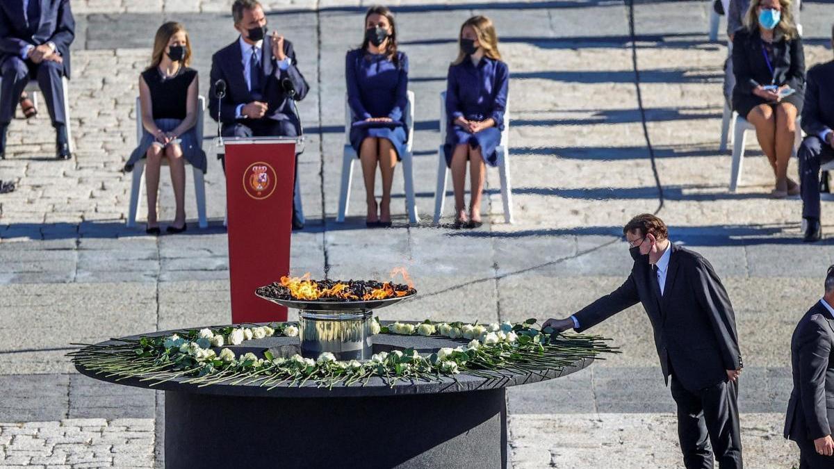 Imagen del homenaje de Estado a las víctimas del coronavirus.