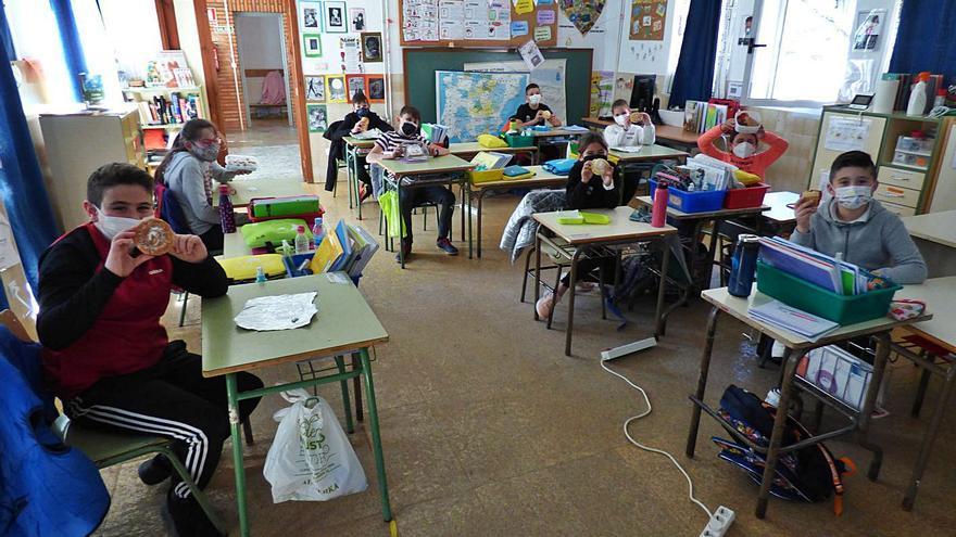 El colegio rural Santana viaja con el tentempié