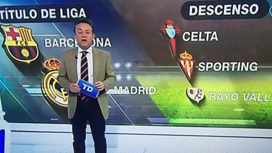 TVE sitúa al Celta en el descenso