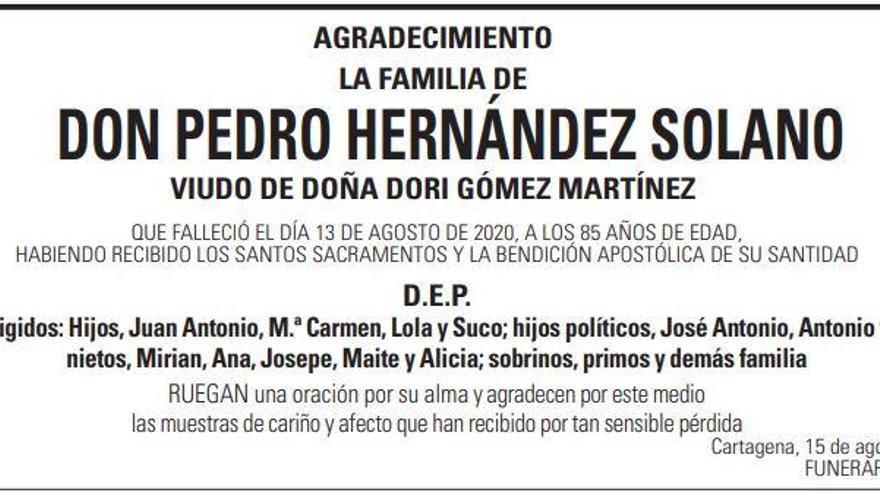 D. Pedro Hernández Solano