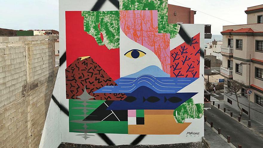 El Pinar estrena cuatro murales sobre la erupción del volcán Tagoro
