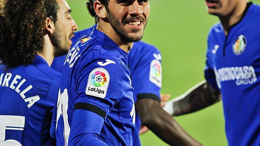 El Getafe recupera la sonrisa ante el Valencia