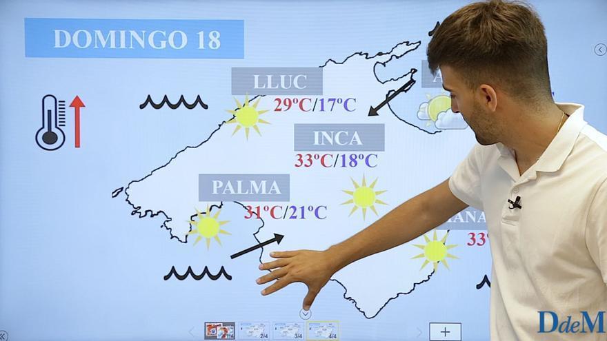 El tiempo del fin de semana en Mallorca: Remontan los termómetros