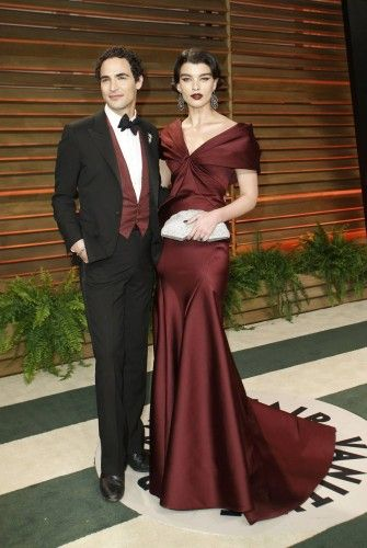 Designer Zac Posen and Crystal Renn