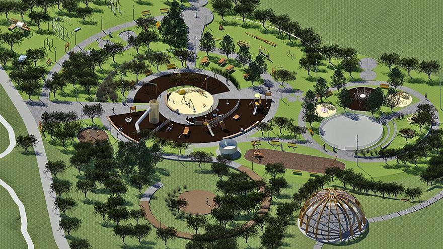 El Concello creará un parque central en Arteixo, equivalente a dos campos de Riazor