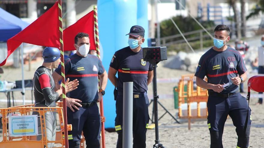 Polémica en Benalmádena por la repetición de la prueba física de natación en aguas abiertas para bomberos