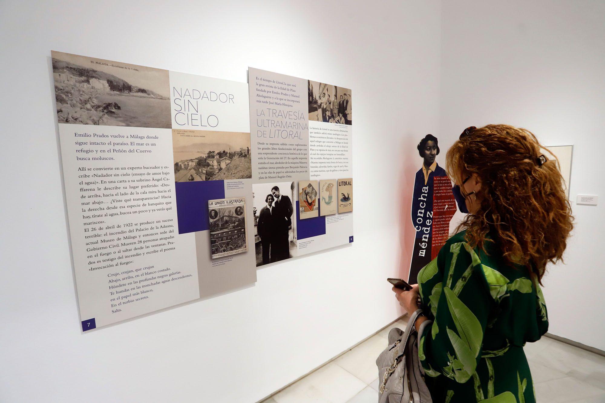 Exposición sobre Emilio Prados en el Centro Cultural de la Fundación Unicaja