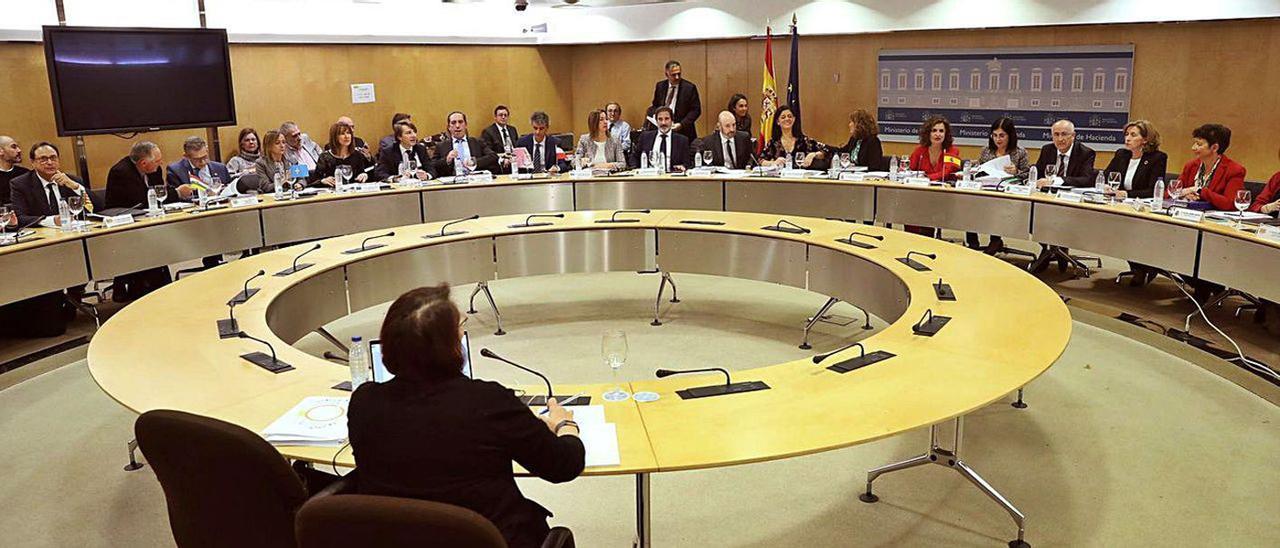 Reunión, el pasado año, del Consejo de Política Fiscal y Financiera.