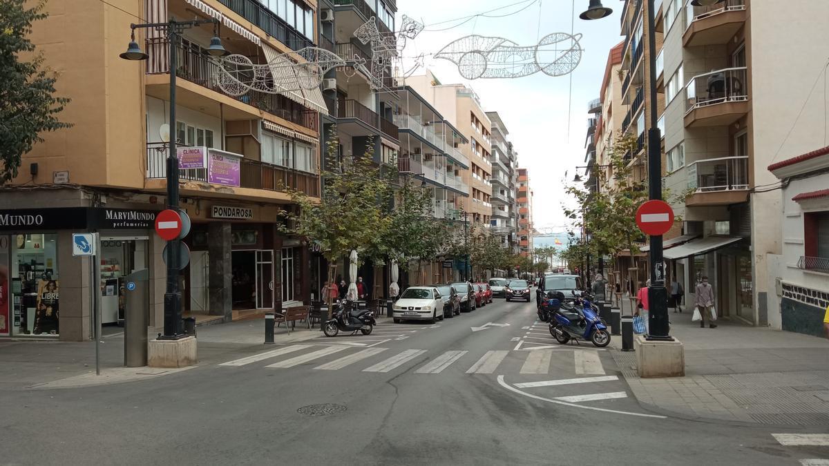 Archivo. La avenida Gabriel Miró de Calp