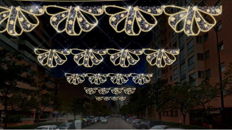 La iluminación de Navidad se refuerza en los ejes comerciales de Zaragoza