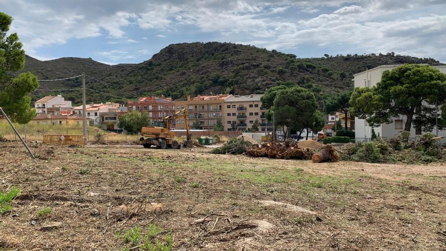 Comencen les obres de la plaça del Mas Oliva de Roses
