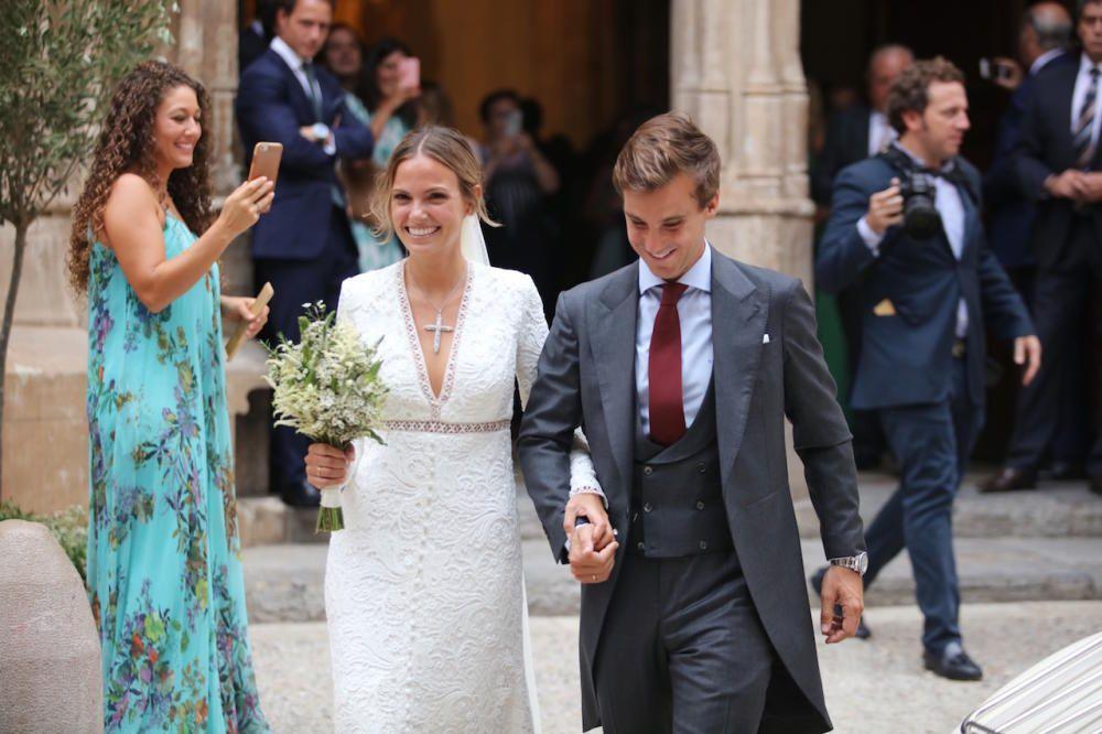 Martina Jáudenes, ahijada del Rey, se ha casado en Palma.