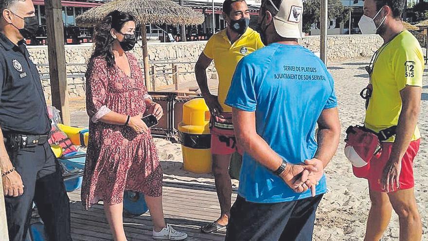 La playa de Cala Bona renueva la certificación Aenor de acceso universal