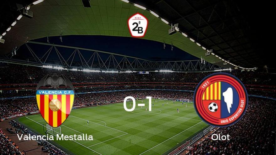 El Olot gana 0-1 al Valencia Mestalla y se lleva los tres puntos