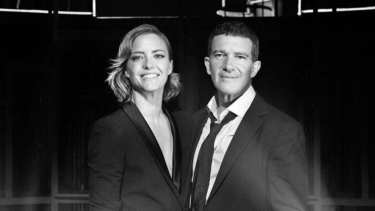 María Casado y Antonio Banderas en la imagen promocional del programa de entrevistas. | LEVANTE-EMV