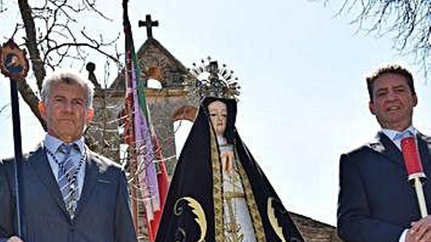 La Virgen de la Soledad que volverá a salir en romería.