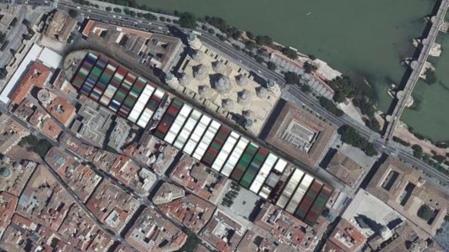 ¿Cabría el buque 'Ever Given' en el Ebro?