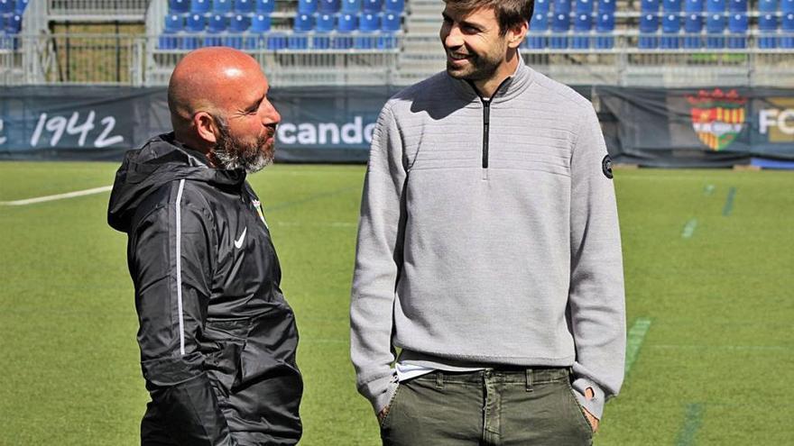 Piqué alienta al nuevo técnico del Andorra para su visita al Hércules