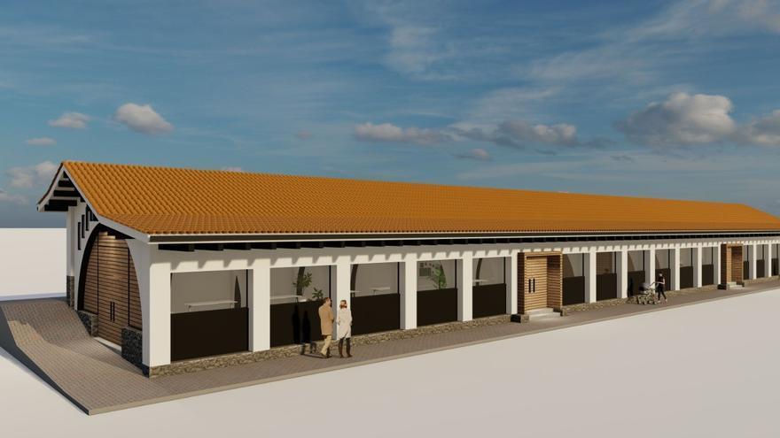 Así será la futura plaza de abastos de Colunga: un espacio moderno y luminoso para reactivar el comercio y con usos múltiples