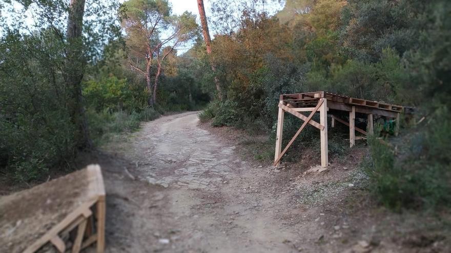 Els Agents Rurals desmantellen un circuit de BTT il·legal a Girona