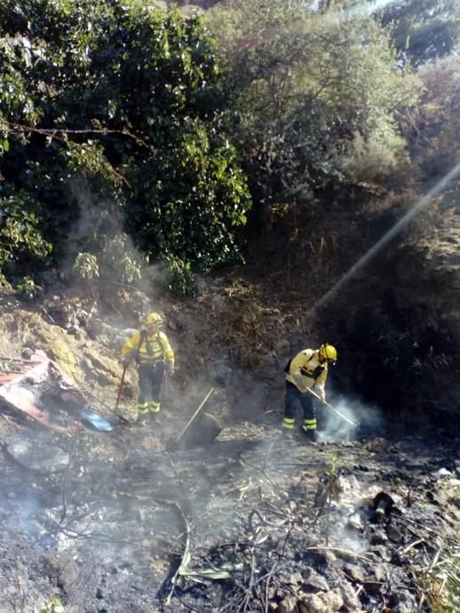Conato de incendio en el barranco de Utiaca en Gran Canaria