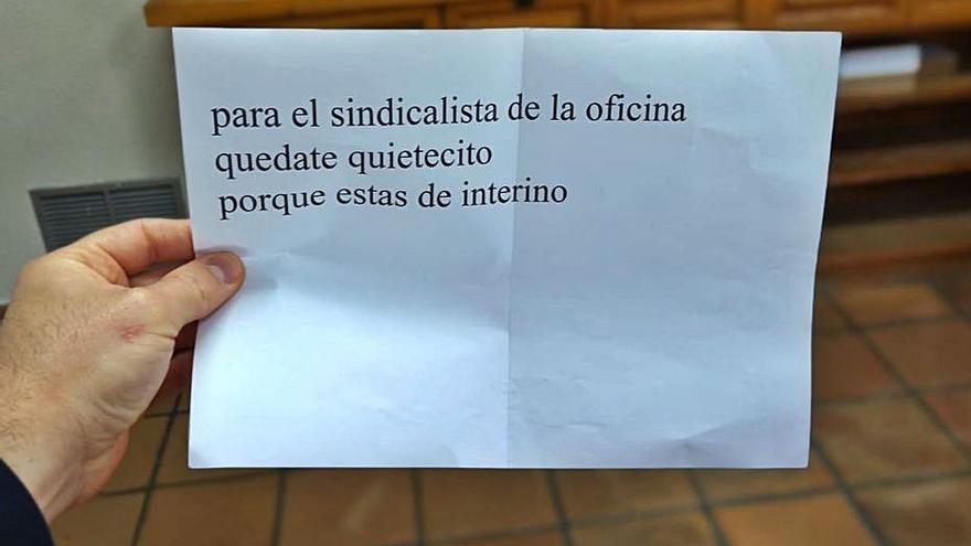 El anónimo amenazante no frena las elecciones sindicales en Sagunt