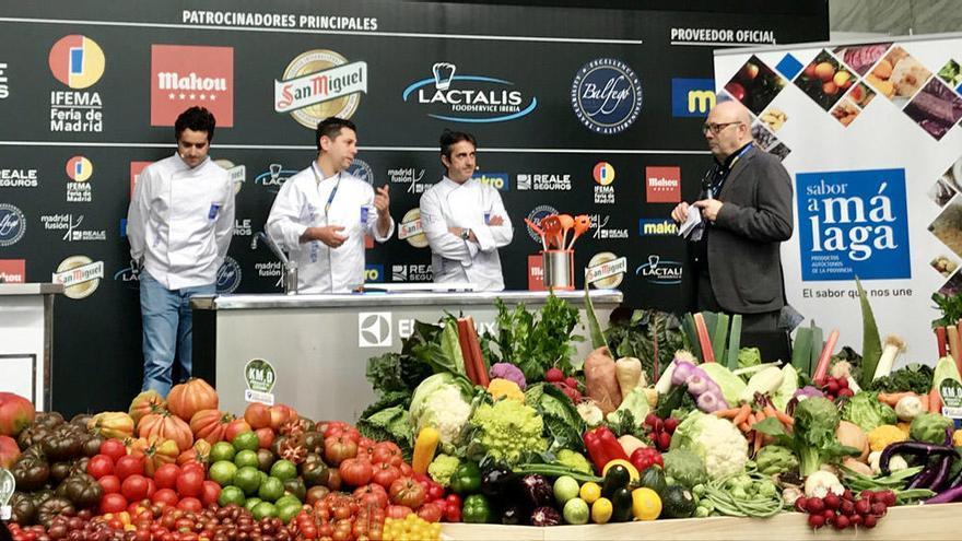 Los productos malagueños brillan en Madrid Fusión gracias a tres chefs Estrellas Michelin de la tierra