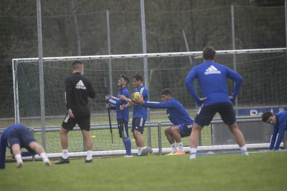 Entrenamiento del Oviedo en El Requexón