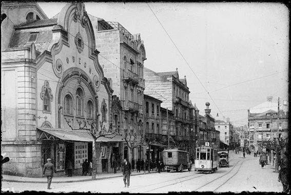 El cine Odeón, en el casco urbano de Vigo.