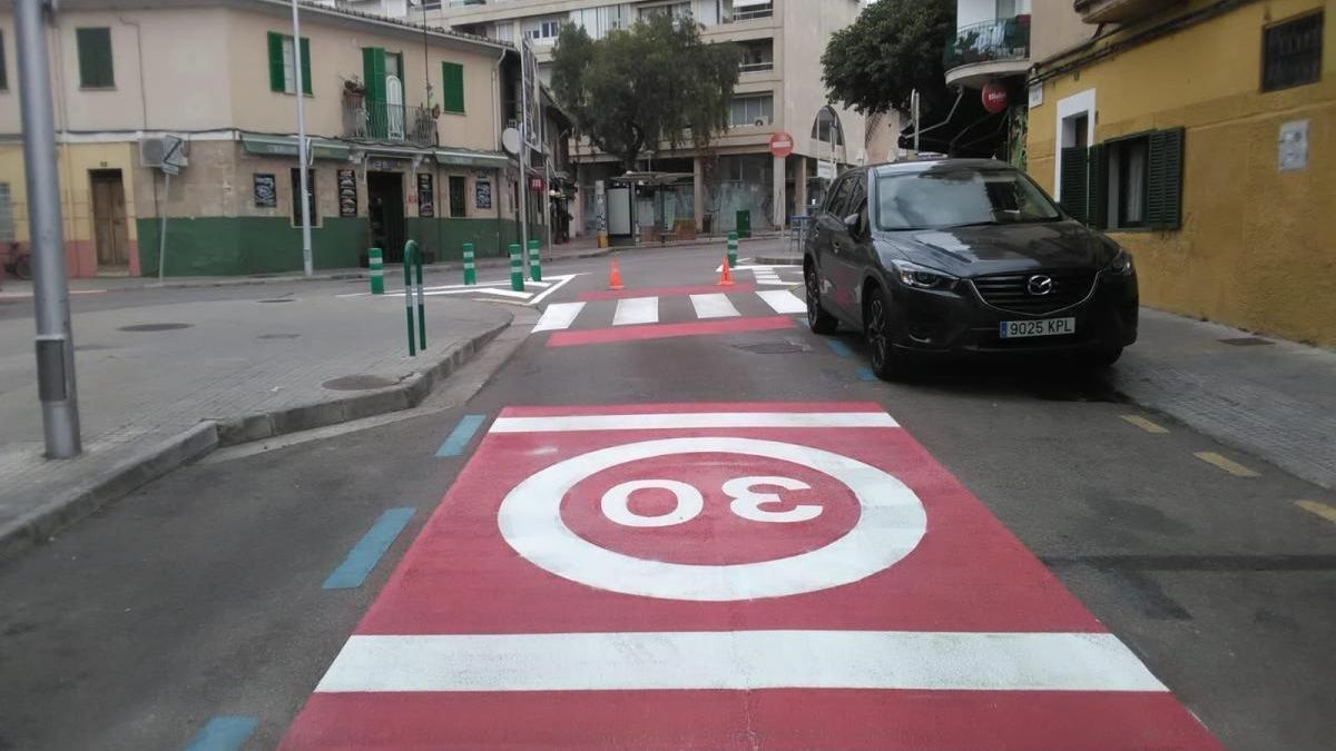 Zona 30 en Palma.