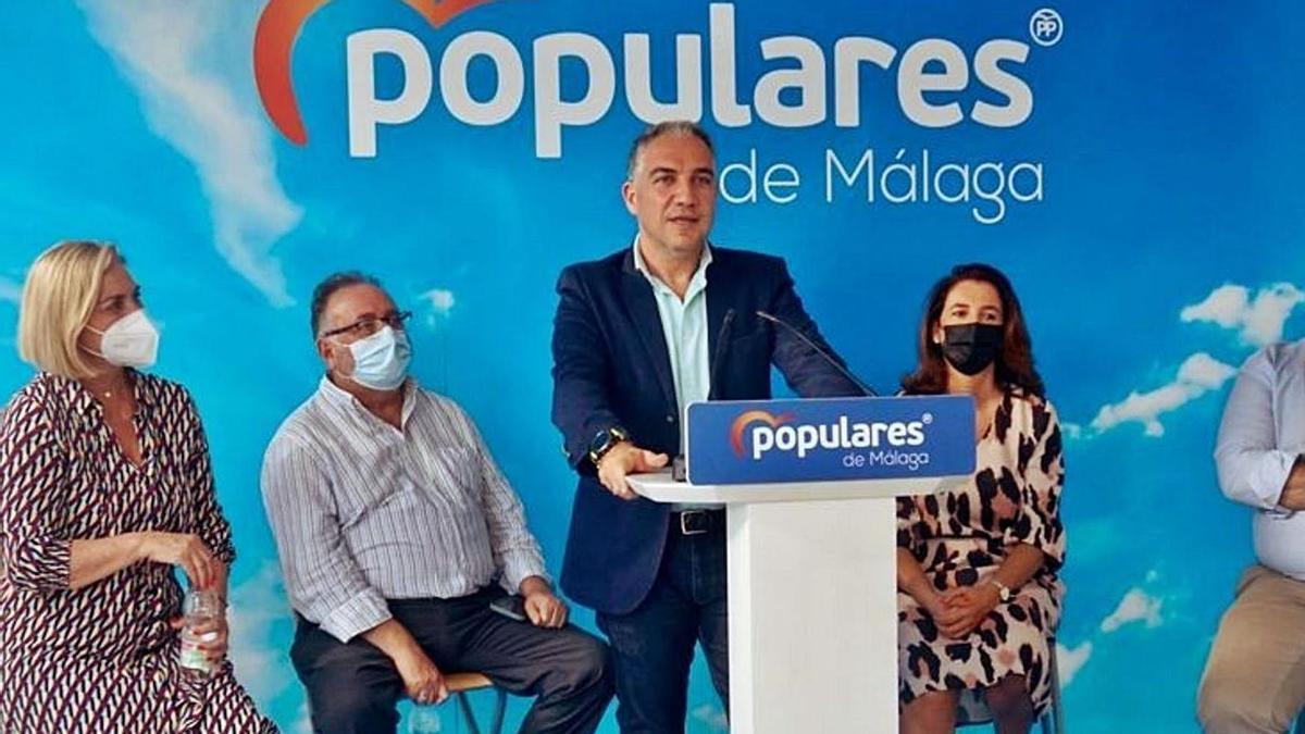 Elías Bendodo, ayer en el acto del PP en Cártama.