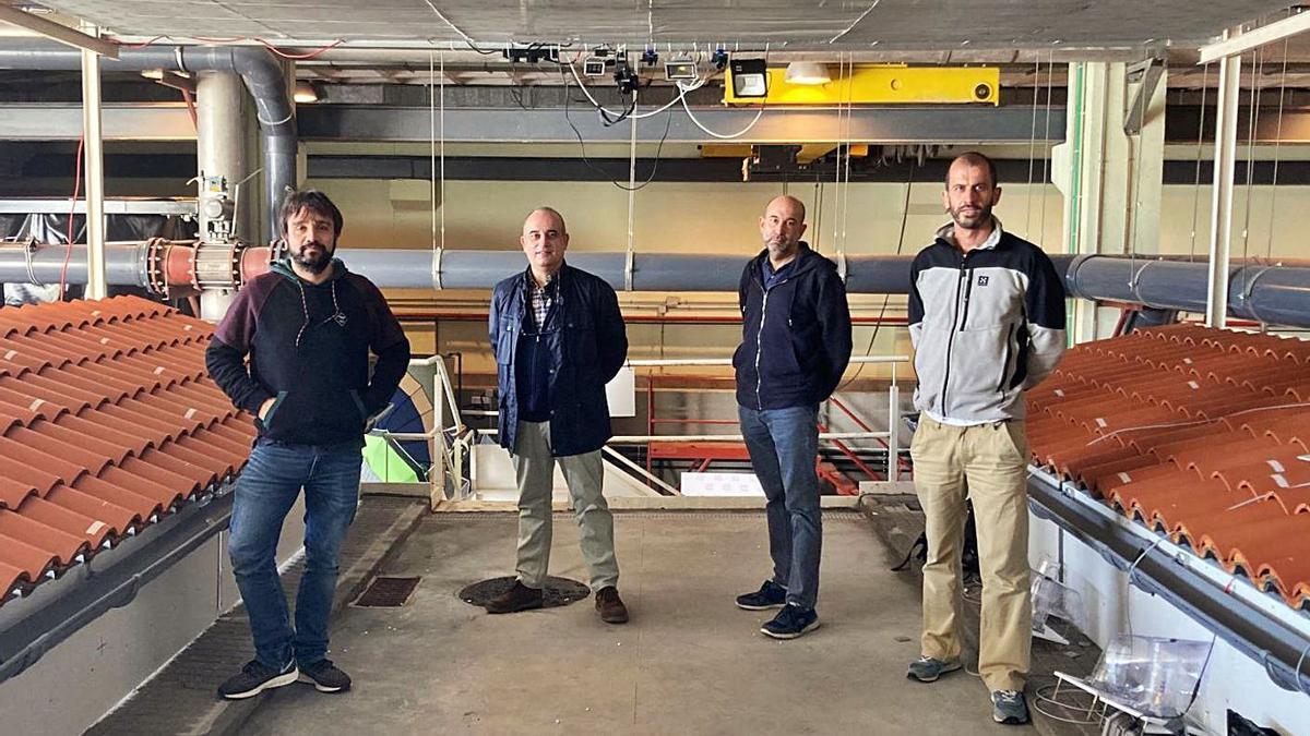 Los investigadores de Caminos en el Citeec: José Anta, Joaquín Suárez, Jerónimo Puertas y Luis Cea.   | // LOC