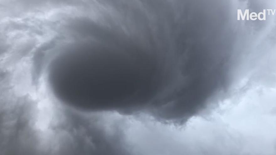 Un tornado sorprende a los vecinos de Vilafranca