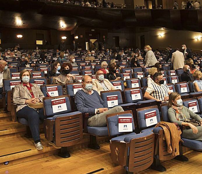 El público que ayer llenó el Auditorio de Oviedo.   Miki López