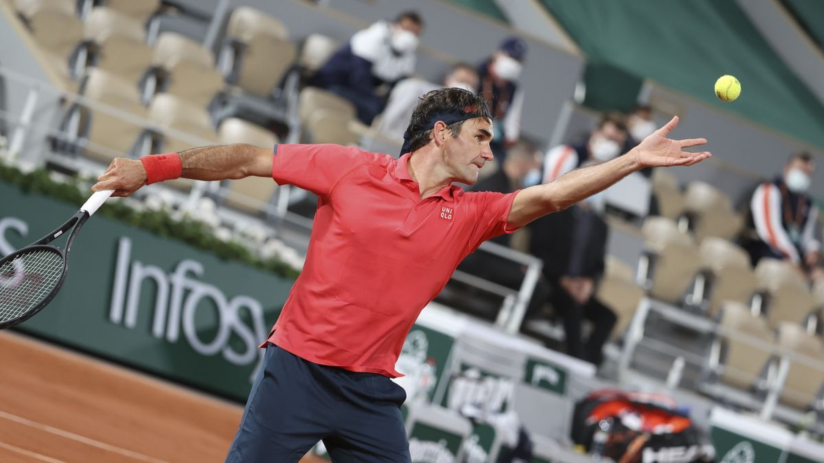 Roger Federer a Roland Garros