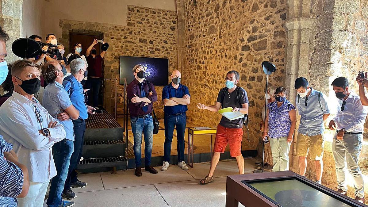 Presentació del nou Centre d'Interpretació del Vescomtat de Cabrera al castell de Montsoriu.  | CONSELL COMARCAL LA SELVA