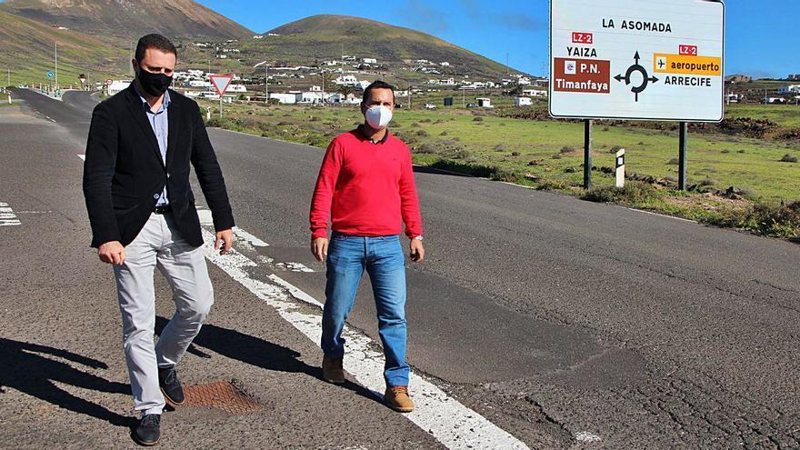 Yaiza proyecta mejorar el firme de la vía desde el IES Yaiza a Puerto Calero