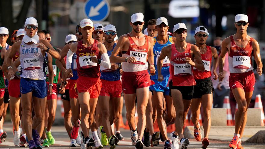 Álvaro Martín se queda a las puertas de las medallas en los 20 kilómetros marcha