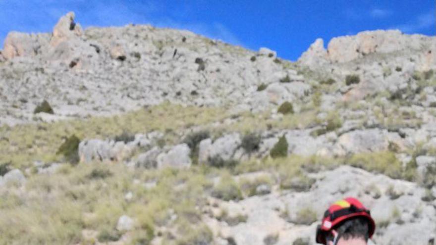Rescatada una senderista con el tobillo dislocado en el castillo de Tirieza