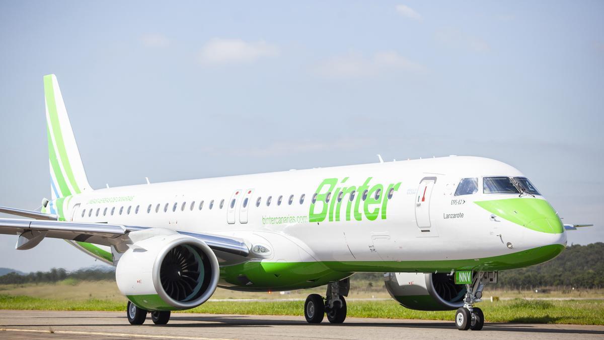Binter recibe su cuarto avión Embraer E195-E2